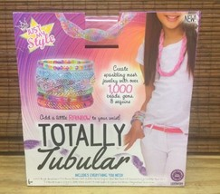 NEW Just My Style Totally Tubular Mesh Jewelry Making Kit Kids Crafts Se... - $5.93