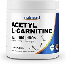 Nutricost Acetyl L-Carnitine (ALCAR) 100 GMS - 1000mg Per Serving - High... - $57.63