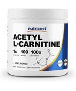 Nutricost Acetyl L-Carnitine (ALCAR) 100 GMS - 1000mg Per Serving - High... - $57.63