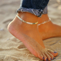 5mm Gold Figaro Chain Initial Charm Anklet Bracelet Stainless Steel Foot Ankle - $5.99