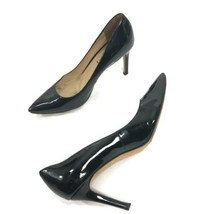 Via Spiga Black Patent Leather High Heels Pointed Toe Shoes Women Pumps ... - $25.90