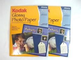 Kodak Glossy Photo Paper For Scrapbooking Acid Lignin Free 2 Packs of 15 - $20.74