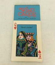 Vintage hallmark calendar wild cards 1974 bridge postcard calendar old postcards - $24.70