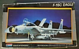 Vintage 1987 Monogram Model Kit #5823 F-15C Eagle 1/48 Scale NOS - $38.99