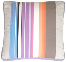 Pillow Decor - Grape & Charcoal Stripes Throw Pillow - $14.95