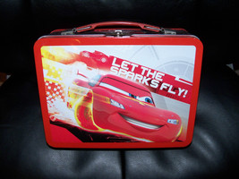 Disney Cars Let the Sparks Fly Metal Lunch Box Full Size NEW LAST ONE - $19.09