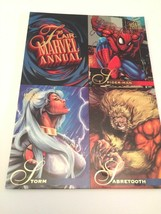 1995 Flair Marvel Annual Promo Panel Spider-man, Storm and Sabretooth - $12.00