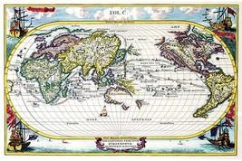 Navigationes Precipae Europorum ad Exteras Nationes; Navigational Map of the Wor - $19.99+