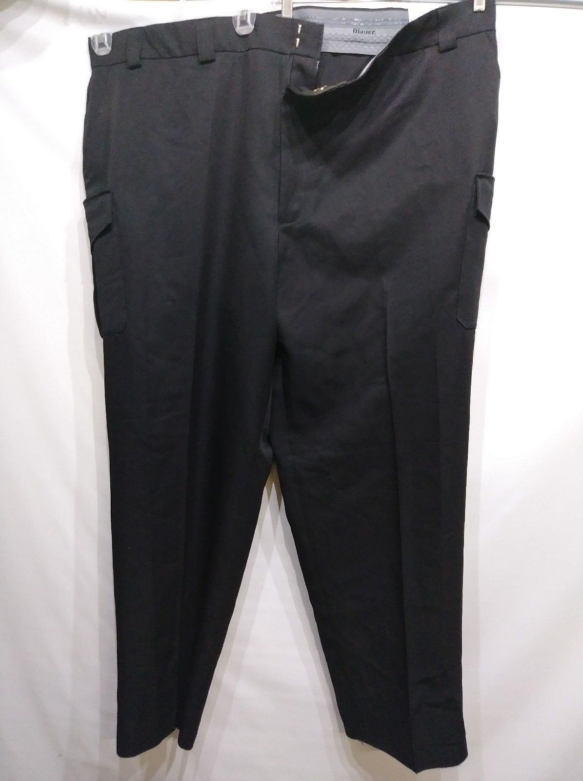 BLAUER SIDE POCKET POLYESTER TROUSERS BLACK SIZE 55 X 36 STYLE 8655 BRAND NEW