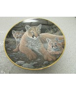 FRANKLIN MINT COLLECTOR PLATE MOUNTAIN LIONESS & CUBS MICHAEL MATHERLY #... - $3.91