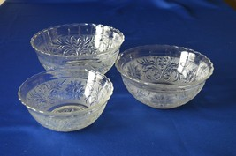 Anchor Hocking Sandwich Glass Stackable Bowls Set of 3 - $29.70