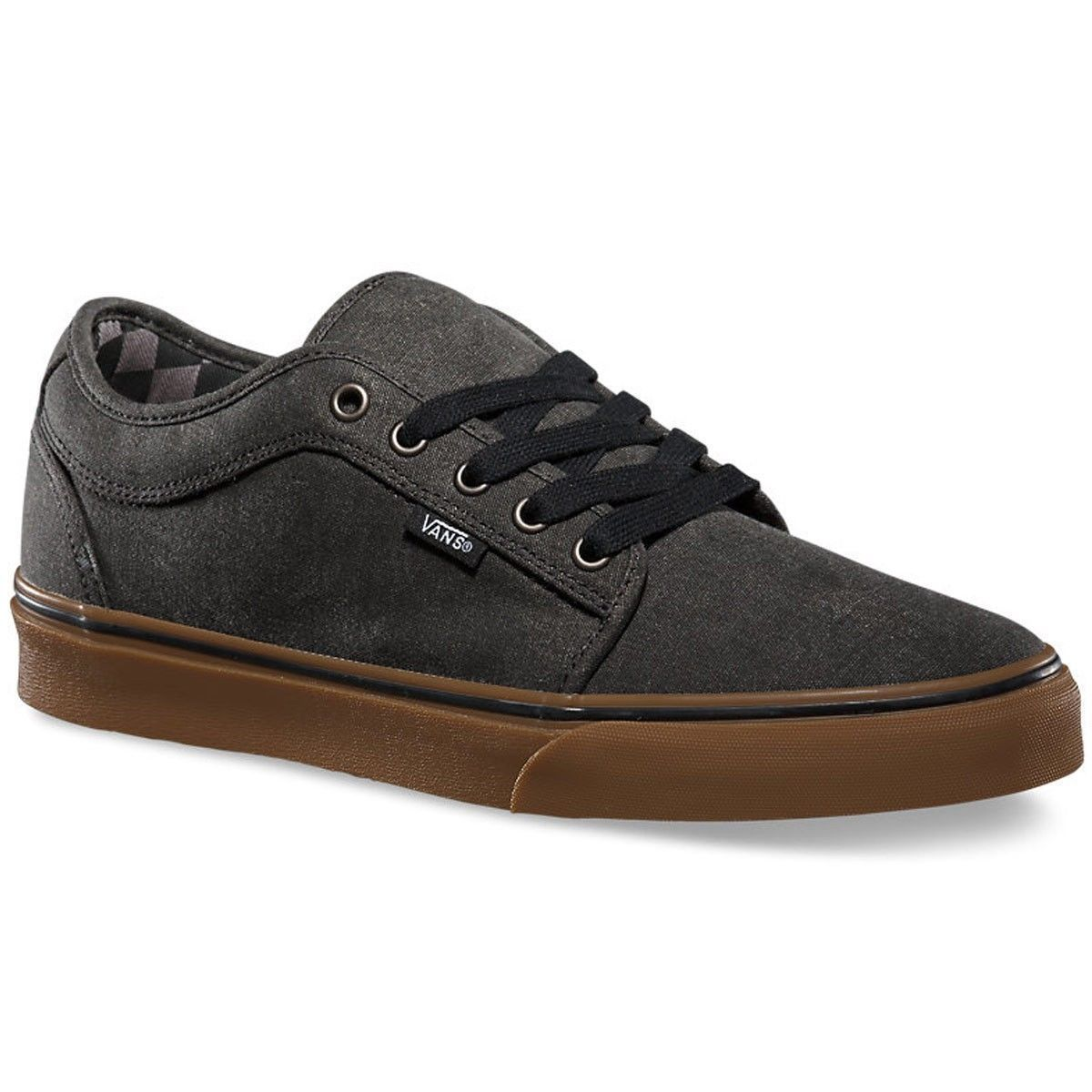 VANS Chukka Low (Washed) Black/Gum Classic Shoes MEN'S 7.5 WOMEN'S 9