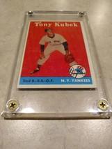 Tony Kubek Topps 1958 Yankees 353 with hard screw case - $7.45