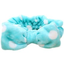 Hair Band Makeup Hair Wash A Face With Hair Hoop Bowknot Headdress(Water Blue)