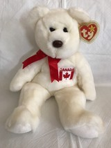 "TY 1998 Retired Plush Beanie Buddy ""MAPLE"" the Canadian Bear, MWMT 13"" L... - $9.11"