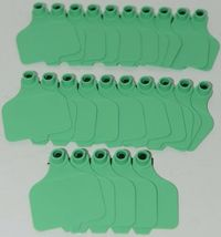 Destron Fearing DuFlex Visual ID Livestock Panel Tags Large Green Blank 25 Sets image 5