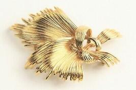 Vintage Jewelry Monet Gold Metal Modernist Brooch - $20.00