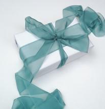 Silk Chiffon ribbon, Pine Green, hand-dyed silk ribbon - $11.10+