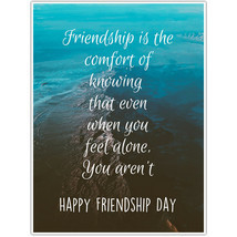 Friendship Is Comfort Wall Art Friendship Day Gift
