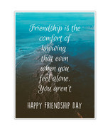 Friendship Is Comfort Wall Art Friendship Day Gift - £11.11 GBP+