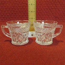 "2 Imperial Cape Cod 1602 Crystal 2 3/4"" Punch Cups Small Mugs - Extra Nice - $4.74"