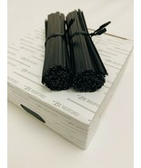 "2000 ULINE Black Plastic Pre-Cut Twist Ties 4"" Inches Length - $23.71"