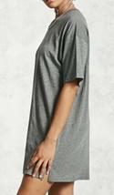 Forever 21 Boxy Oversize Fidanzato Stile Tunica Maglietta T-Shirt Grigio... - $8.11