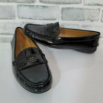 COACH Odette Womens 7.5B Black Patent Leather Slip On Loafers Driving Shoes - $46.74