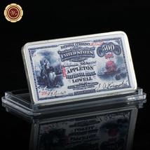 WR US 1875 $500 Collector Banknote Printed Dollar Silver Clad Bar Metal ... - $4.99