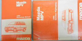 1989 Mazda MPV Service Shop Reparatur Manuell Set Fabrik OEM Selten How ... - $14.84