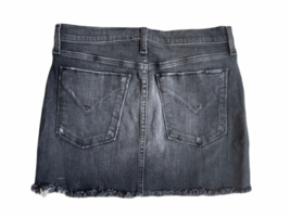 Faded Black/Gray Distressed Women Hudson Denim Mini Short Jean Skirt Sz 25 image 3
