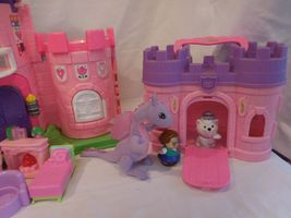 Fisher Price Little People Pink Castle + Play 'N Go Castle + Princess Carriage image 6