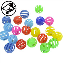 Cat Bell Toys Pet Ball Colorful Small Plastic Supplies Accessories Class... - $10.02 CAD