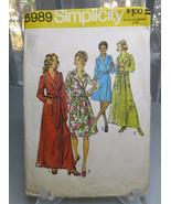Vintage 1973 Simplicity 5989 Miss Robe 12 14 Sewing Pattern - $8.00