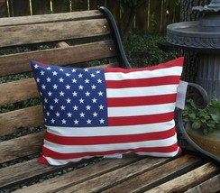 Americana Flag Liberty Decorative In/Outdoor Throw Pillow NWT FREE SHIP... - $26.72