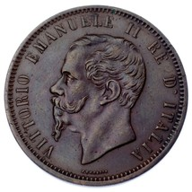 1862 Italie 10 Centesimi Pièce de Monnaie En XF, Km #11.1 - $83.62