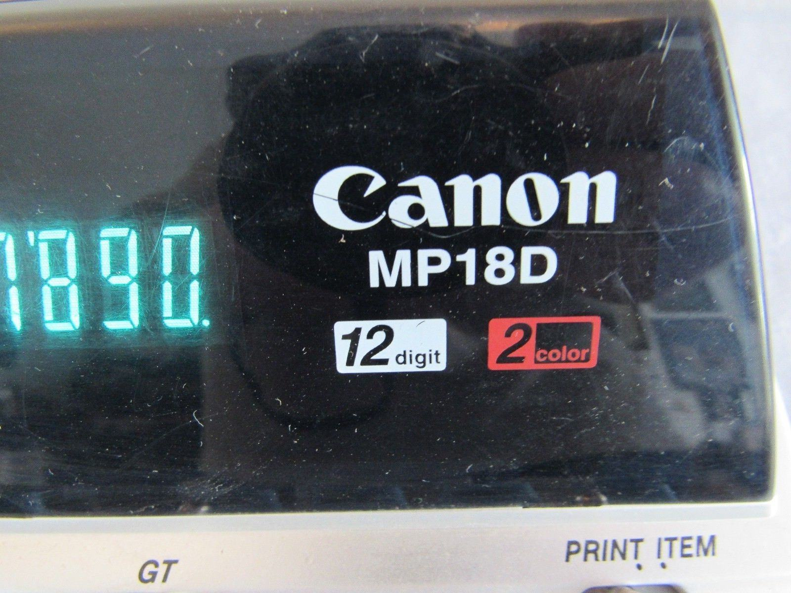 Canon MP18D Professional Desktop Electronic Printing Calculator Adding Machine