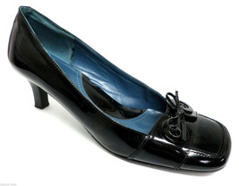 VIA SPIGA Black Patent Square Toe Heels Size 8.5 Pumps or Shoes 8 1/2 from Italy - $22.50