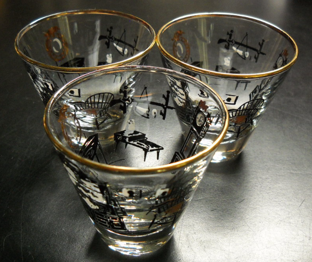 Primary image for Libbey Shot Glasses Cocktail Things You Might Find In An Early American Home