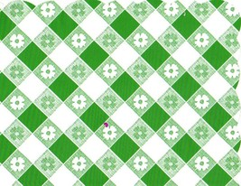 48 Plastic Scalloped Placemats Dinner Size Place Mats - Green Gingham - $8.90