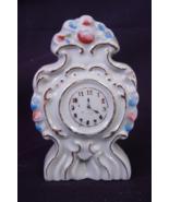 """Decorative Ceramic Clock - Made in Occupied Japan - 3-3/4"""" tall, Gold Trim - $6.00"""