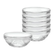 Duralex Made In France Lys Stackable Clear Bowl, 3.5-Inch, Set of 6 - $23.82