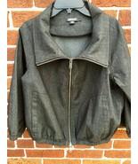 DKNY Jeans Denim Jacket Womens Size Petite Zip up Long Sleeve  - $19.80