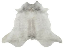 Natural Grey Ivory Cowhide Rug Brazilian 7.5ft x 6.8ft - $260.93