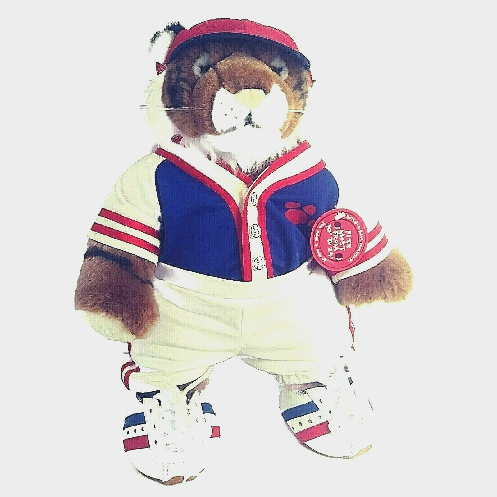 Build-A-Bear Tiger 17'' Baseball Uniform Shoes Accessories World Wildlife Fund  - $33.69