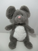 Manhattan Toy plush Mindy Woodlanders gray white mouse pink nose soft toy - $19.79
