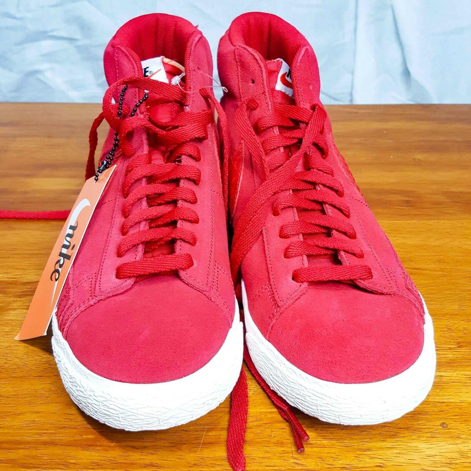 a41637f51d459 Nike Blazer Mid Premium Vintage Rosso Palestra Vela GOMMA 638261-601 Us  10.5 Eu