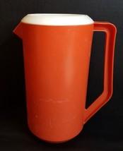 Vintage Red/ Orange Rubbermaid Pitcher 2 1/4 Quart #2445 - $6.00