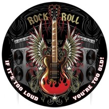 "Rock Roll 14"" Round Metal Sign - $29.95"