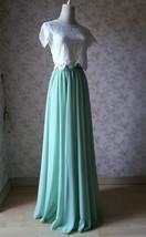 Boho Wedding Bridesmaid Dress Chiffon Maxi Skirt Short Sleeve Crop Lace Top  image 5